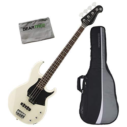 Yamaha BB234 VW 4 String Bass Guitar (Vintage White) w/Polish Cloth and Gig Bag