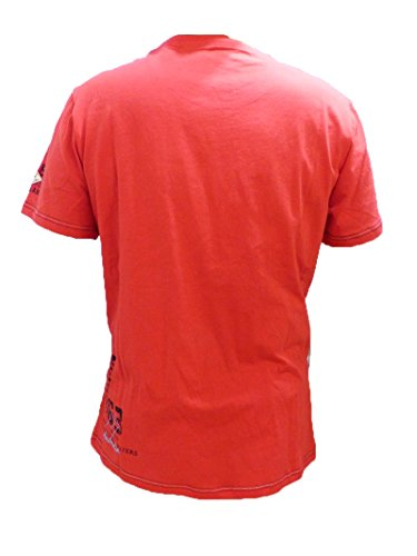 CAMP DAVID POLO SHIRT TROPICAL WATERS II LOBSTER RED L XL