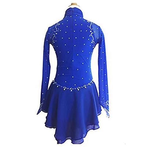 Vestidos Hielo Ropa De Clásico Sobre Manga Chica Larga Hecho rendimiento Zhangmin Real Exterior Azul patinaje Patinaje A child6 Mano Hielo 0qptnnwI
