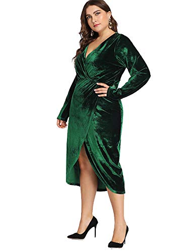 37f3497e51bb7 ESPRLIA Women's Empire Waist Plus Size Maxi Dress (Green, 16W) - Buy ...