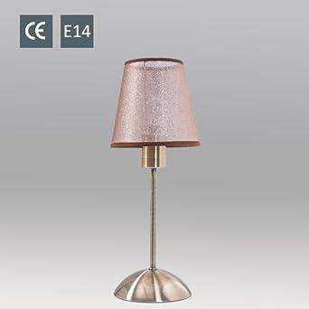BORA Tischlampe Alt Messing 13cm Hhe 39cm Wohnzimmerlampe Schlafzimmerleuchte Tischleuchte Nachtlicht Stehlampe Nachttischleuchte Nachttischlampe E14
