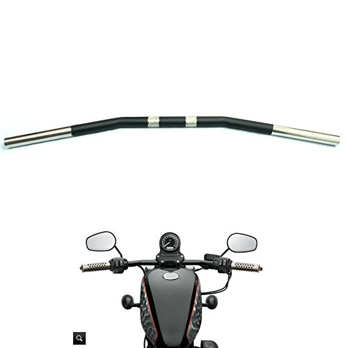 Sportster Drag - Alpha Rider Drag Style Steel Handlebars Drag Bar Dimpled for Harley Sportster 883 1200 Nightster 07-later XL 1 inch