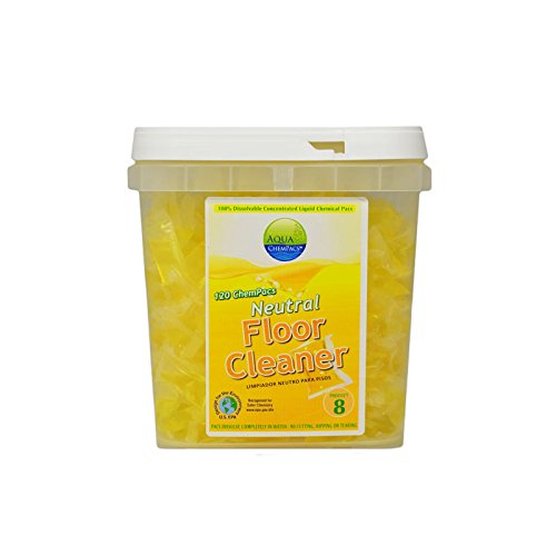 Image of Aqua ChemPacs AQ506 Simoniz Neutral Floor Cleaner, 1 x 120/Tub (Pack of 120) All-Purpose Cleaners