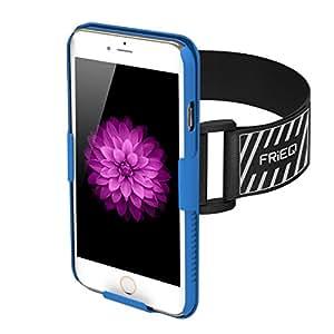 FRiEQ Brazalete para iPhone 6 (4.7 pulgadas) - Liviano y completamente ajustable - Ideal para la actividad física, Hiking, Jogging, Gimnasia, Carrera u otros deportes (Azul)