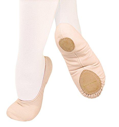Adult TotalSTRETCH Canvas Split-Sole Ballet Shoes,246A Black