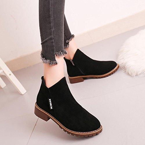 (Hemlock Women Dress Flat Shoes, Womens Women Boots Shoes Casual Outdoors Winter Shoes (US:7, Black))