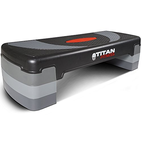 Titan Fitness Medium Aerobic Step 4''-8'' Step w/Risers Gym Home Exercises Workout by Titan Fitness