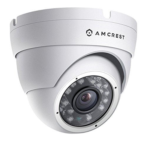 Amcrest AMC960HDC36-W 800+ TVL Dome Weatherproof IP66 Camera with 65' IR LED Night Vision (White),Power supply and...