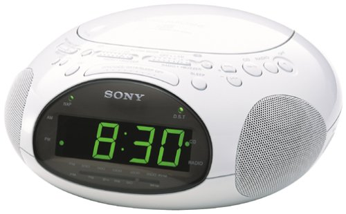 Sony ICF-CD831 CD Clock Radio with FM/AM Radio and Extendable Snooze (White) (Discontinued by Manufacturer)
