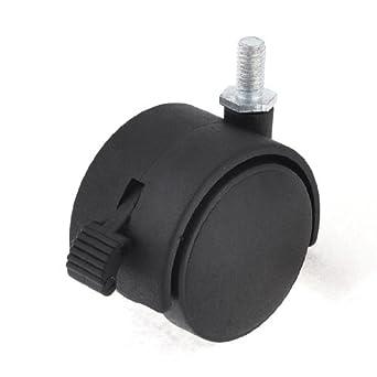 eDealMax a13112000ux0305 Negro 50 mm Diámetro de la rueda de Doble rotación de 360