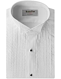 "Tuxedo Shirt- White Wing Collar 1/4"" Pleat"