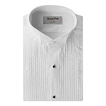 "Tuxedo Shirt- White Wing Collar 1/4"" Pleat, X-Small/13-13.5"" Neck 32-33"" Sleeve"