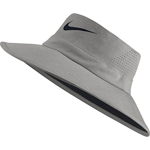 Nike Golf UV Sun Bucket Golf Hat 832687 (Small/Medium, Dark Grey Heather) - Bucket Brim Large