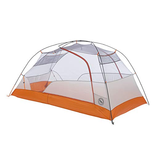 (Big Agnes Copper Spur HV UL2 Bikepack - Ultralight Bike-Packing Tent, 2 Person, Gray/Orange)