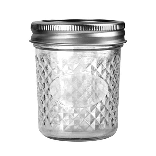 Mason Jars 6 OZ, VERONES 30 PACK 6oz Mason jars Canning Jars Jelly Jars With Lids and Bands, Ideal for Jam, Honey, Wedding Favors, Shower Favors, Baby Foods by VERONES (Image #1)