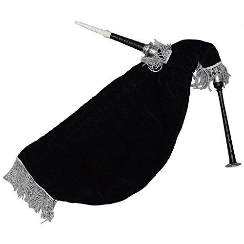 [해외]브랜드 새 스코틀랜드 거위 백 파이프 블랙 컬러 실버 마운트 블랙 벨벳 가방/Brand New Scottish Goose Bagpipe Black Color Silver Mounts Black Velvet Bag