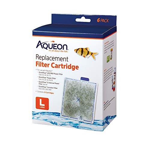 - Aqueon Replacement Filter Cartridges Large (6 Pack)