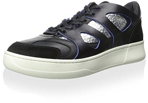 PUMA Men's MCQ Move Lo Sneaker, Black/Silver Metallic, 8.5 M US