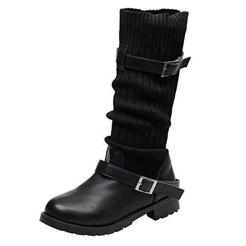 HYIRI Originals Buckle Strap Snow Boots,Women Keep Warm Shoes Leather Booties Round Toe Shoes for $<!--$30.48-->