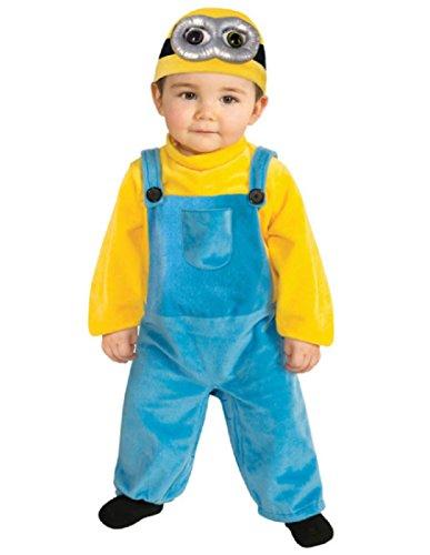 Minions Costumes Toddler (Rubie's Costume Co Baby Boys' Minion Bob Romper Costume, Yellow, 3-4 Years)
