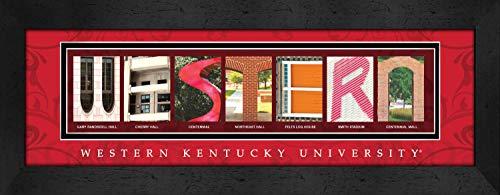 - Prints Charming Letter Art Framed Print, Western Kentucky University-Western, Bold Color Border