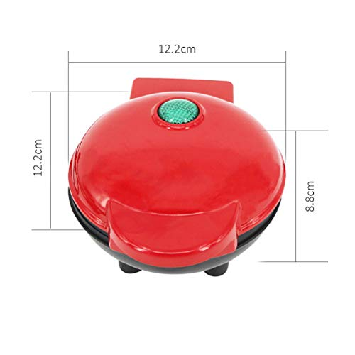 zuoshini Waffle Maker Electric Waffle Maker Machine Mini Maker Portable Electric Round Griddle for Individual Pancakes Cookies Eggs Easy Clean Non-Stick Coated Plates
