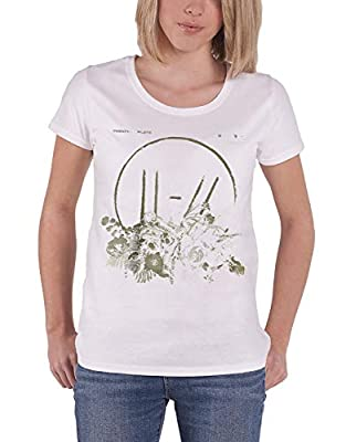 Twenty One Pilots T Shirt Trench Flower Bed Official Womens White