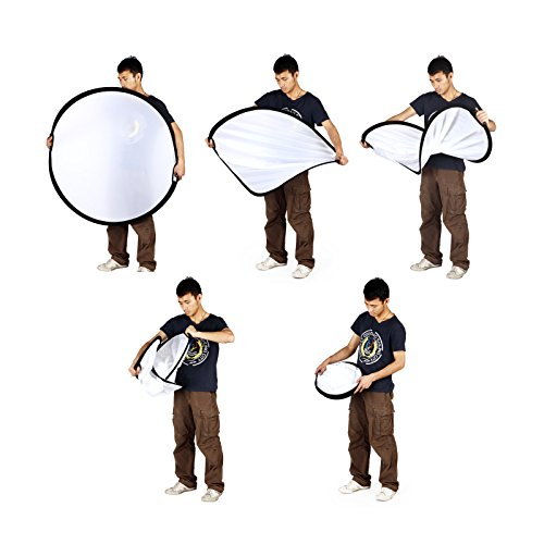 Selens 5-in-1 43 Inch (110cm) Portable Handle Round Reflector Collapsible Multi Disc with Carrying Case for Photography Photo Studio Lighting & Outdoor Lighting by Selens (Image #6)
