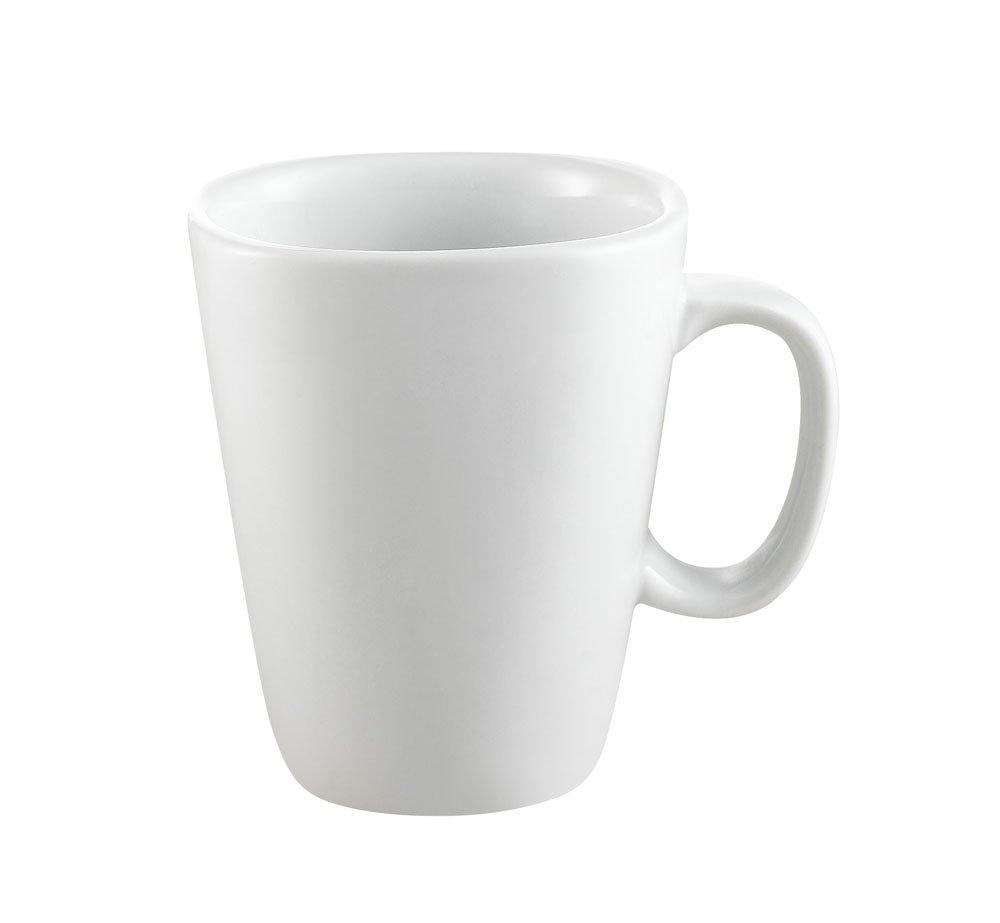 CAC China KSE-M8 Kingsquare 3-1/4-Inch 8-Ounce Super White Porcelain Square Mug, Box of 36