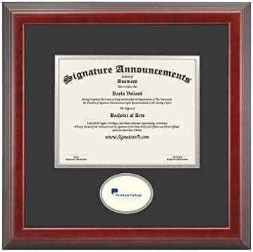 Cherry, 16 x 16 Undergraduate Graduation Diploma Frame with Sculpted Foil Seal AC Signature Announcements Augustana College