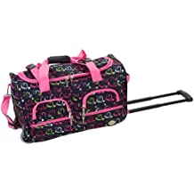 Rockland PRD322 Luggage Rolling Duffle Bag, Heart, One Size, 22-Inch