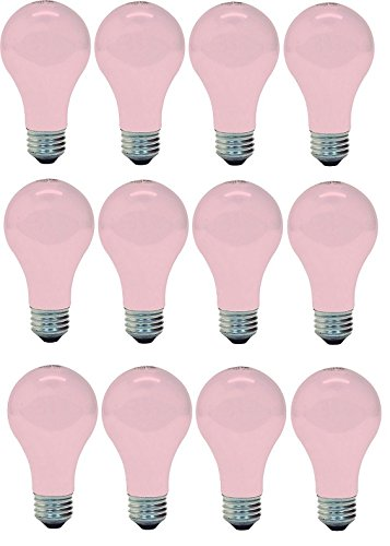 (Ge Lighting 97483 Ge Light Bulb, 60w, Soft Pink (12 Bulbs))