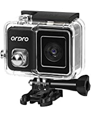 Mainstayae 4K 60fps WiFi Sports Action Camera PTZ Anti-Shake 120° Wide Angle 30M Waterproof Supports Slow/Fast Motion Time-lapse Photography Built-in Photo Filters with Waterproof Shell Bicycle
