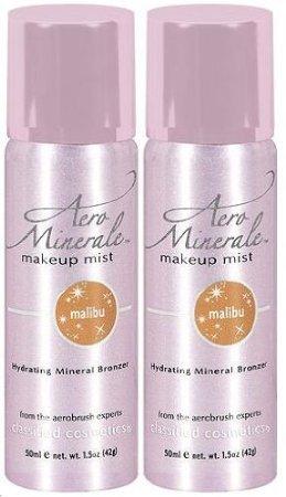 AERO MINERALE Makeup Mist Hydrating Mineral Bronzer MALIBU (PACK OF 2)