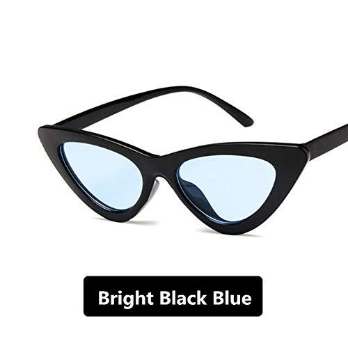 Rétro De noir Triangle Élégantes Œil Zlulu Chat Soleil Bleu Et Lunettes qp16n5xt5g