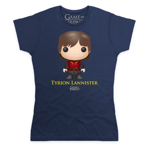 Official Game of Thrones - Funko POP Tyrion Lannister Camiseta, Para mujer Azul marino