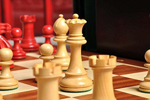 "Box The Grandmaster Chess Set Green Gilded /& Board Combination 4/"" King"