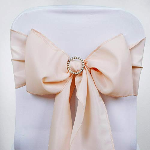 Mikash Polyester Chair Sashes Bows Ties Wedding Reception Decorations Wholesale | Model WDDNGDCRTN - 4798 | 200 pcs]()