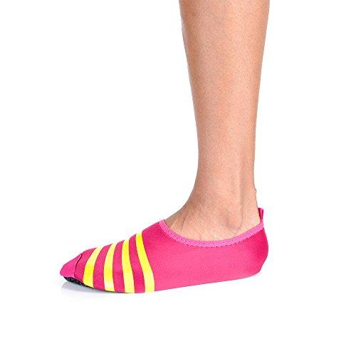 Flexibla Barfota Vatten Hud Skor För Stranden Simma Surf Yoga Motion Pink