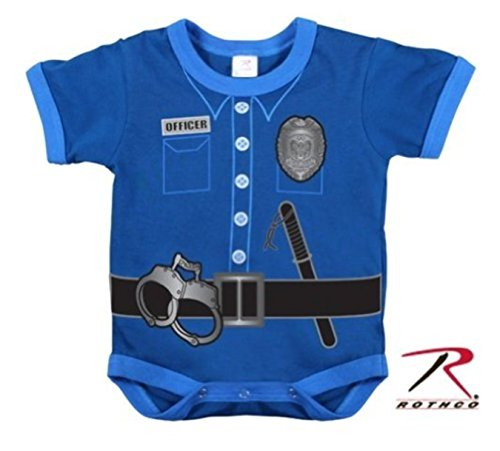 BLUE Police Deputy Sheriff Officer Infant Baby Boy One Piece Costume 12 to 18M