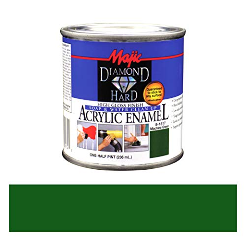 Majic Paints 8-1517-4 Diamond Hard Acrylic Enamel High Gloss Paint, Half Pint/8-Ounce, Machine Green ()
