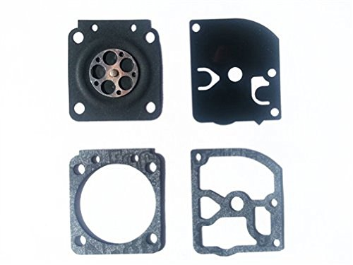 Compatible With Up To 25/% Ethanol In Fuel Carburetor Gasket /& Diaphragm Kit for Zama GND-50