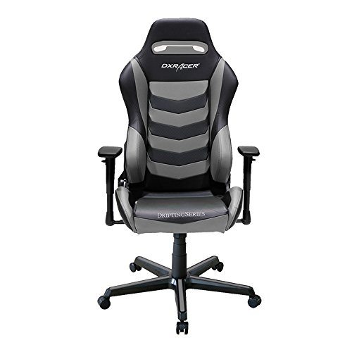 DXRacer Drifting Series DOH/DM166/NG Racing Bucket Seat Office Chair Gaming Chair Ergonomic Computer Chair eSports Desk Chair Executive Chair Furniture with Free Cushions (Black/Grey) by DX Racer