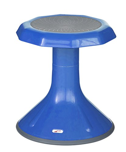 """ECR4Kids ACE Active Core Engagement Wobble Stool for Kids, Flexible Classroom and Home Seating, 15"""", Blue"""