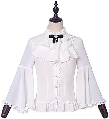 Hzd Lolita de rol Dentro de JSK sin Mangas Vestidos y Blanca de Manga Larga Camisa del Paseo,Shirt,XXXL: Amazon.es: Hogar