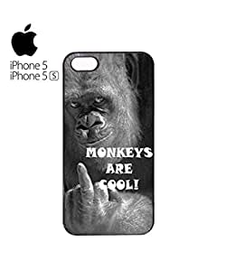 Monkeys are Cool Mobile Cell Phone Case Cover iPhone 5&5s Black