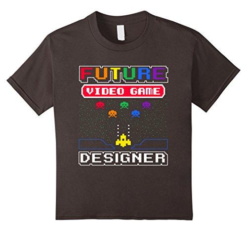Kids Future Video Game Designer Kid's T-Shirt 6 Asphalt