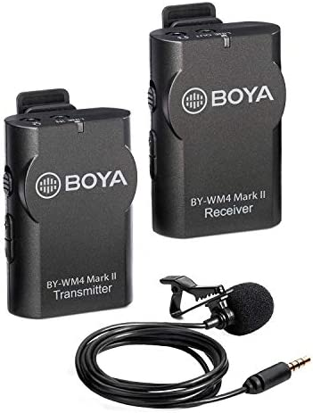 Amazon Com Boya 3 5mm Lavalier Wireless Microphone Mic With Real