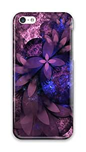 CaseandHome Abstract Violet Flower Design PC Material Hard Case for iphone 5C
