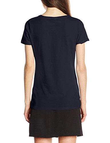 Fruit of the Loom Lady Fit, Camiseta para Mujer Azul (Deep Navy)